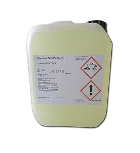 Salzsäure 31% 5 Liter im Kanister ca. 6kg