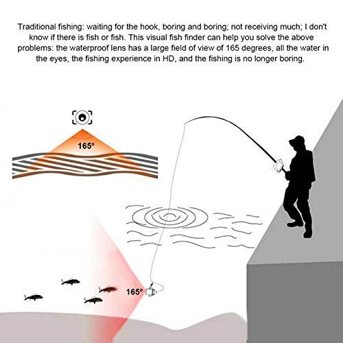 Lámparas infrarrojas de Alta Potencia de cámara de vídeo de Pesca de cámara subacuática, para exploración subacuática(Estándar Europeo (100-240v), Transl)