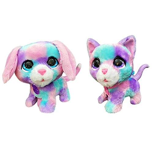FurReal Walkalots Cotton and Candy 2-Pack Toy  Interactive Electronic Puppy and Kitty Pets  Ages 4 and up