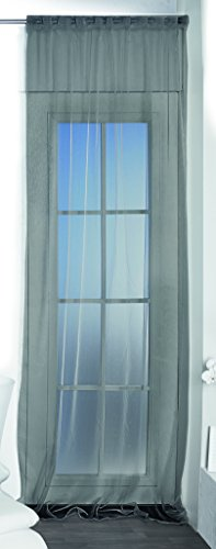 Betz Rideau Transparent Taille 140x245 cm Couleur Gris Anthracite