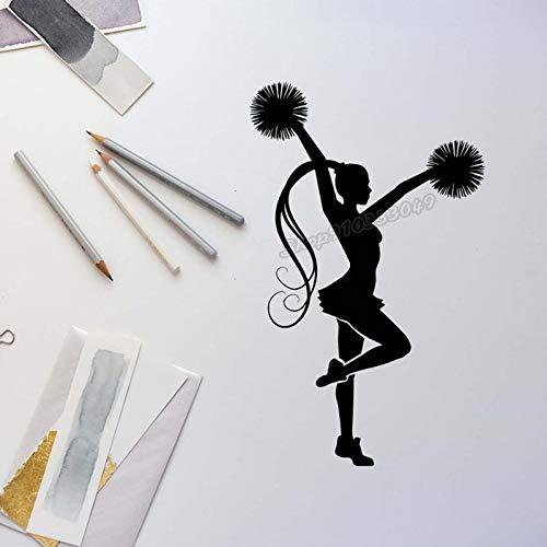 Blrpbc Adhesivos Pared Pegatinas de Pared Etiqueta temática Gimnasia Danza Deporte Vinilo calcomanía hogar Dormitorio decoración Mural 92x57cm