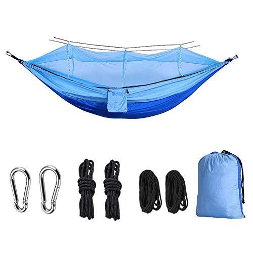 Hamac Swing Camping Hamac Portable Intérieur Extérieur Arbre Hamac Hamacs de parachute en nylon léger pour Voyage Backyard Randonnée Voyage Camping Hamac (Couleur: Bleu royal bleu clair, Taille: