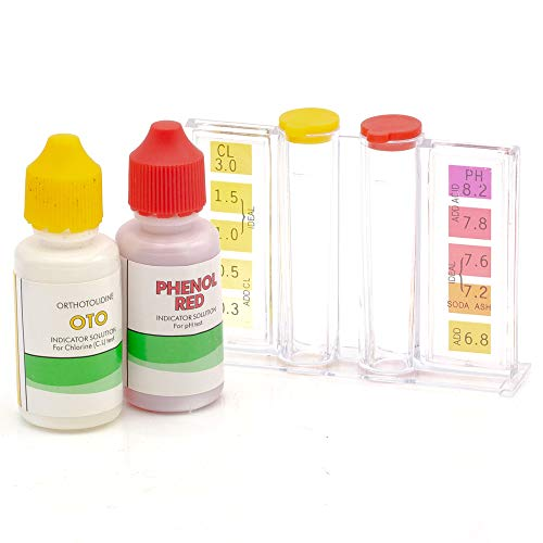 WWD POOL Swimming Pool Spa Water Chemical Test Kit for Chlorine and Ph Test