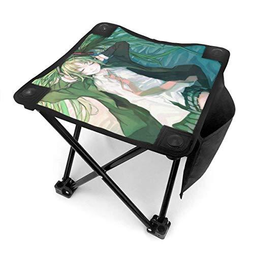 Hdadwy Anime Girl Hatsune Miku - Taburete de camping, sillas plegables, cuatro patas, portátil, antiestrés, plegable, para senderismo, pesca, viajes, picnic, playa, barbacoa, actividades al aire libre