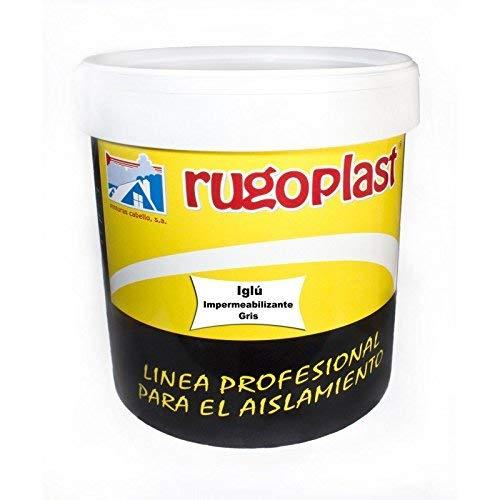 Rugoplast Iglú - Pintura impermeabilizante, Gris, 15 L