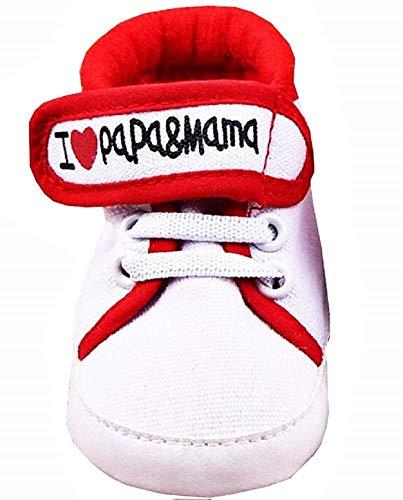 moma scarpe Scarpe - Calzature Neonati Ginnastica - Taglia 11 - I Love Mom - Misura - Taglia 6/9 Mesi - Ti Amo Mamma Misura Scarpe - Calzature per Bimbi - Idea Regalo Originale - Ottima qualità