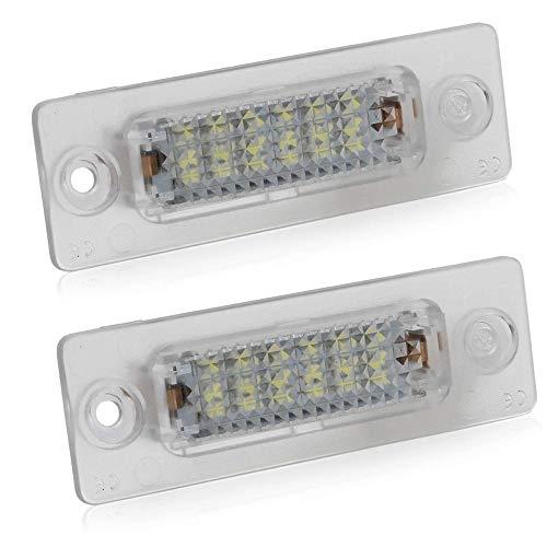 Gzcrdz 2 x étanche de voiture LED Ampoule de plaque d'immatriculation Nombre lampe pour Jetta 5 MKV Passat Touran 12 V sans erreur