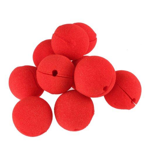 Akaddy Nariz roja de payaso de circo, 10 PCS Party Sponge Ball Payaso rojo Magic Nose para Halloween Masquerade Ball Disfraz de fiesta Decoración de fiesta Set Accesorios de vestir