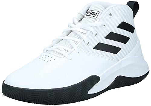 adidas Herren OwnTheGame Basketball Shoe, Cloud White/Core Black/Cloud White, 47 1/3 EU