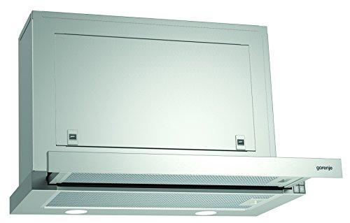 Gorenje BHP 623 E8X Flachschirmhaube/ 60 cm/ AB- oder Umluftbetrieb möglich/ Anti-Fingerprint-Beschichtung, Edelstahl