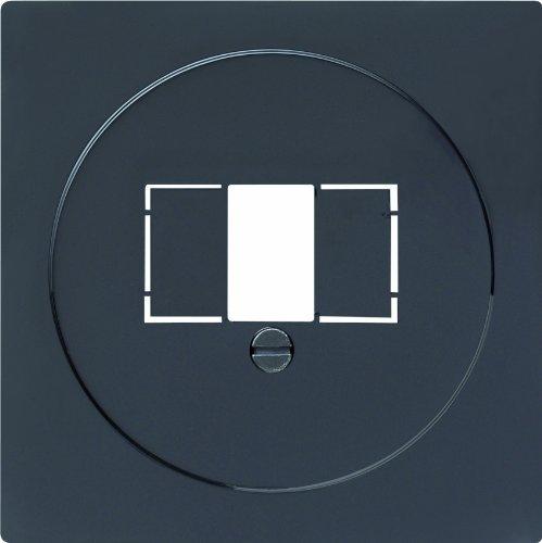 Gira 027647 afdekking TAE met stereo en USB S, zwart