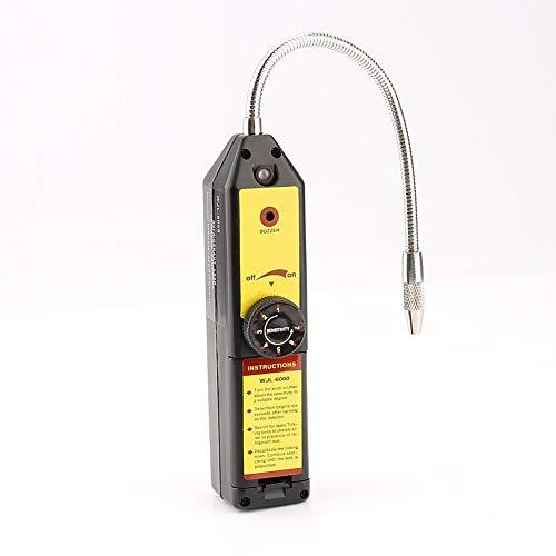 Detector de fugas de halógeno refrigerante, CFC portátiles HFCs Fuga de refrigerante Detector de fugas de halógeno Detector de fugas de gas, R134a R410a R22a Comprobador de HVAC Aire acondicionado Com