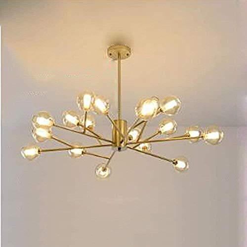 Modern Sputnik Chandelier, Lighting messing plafond verlichting Mid Century hanglamp Lamp Socket Inrichting for Gang Bar keuken eetkamer, 9 hoofden van goud, Grootte: 9 hoofden van goud