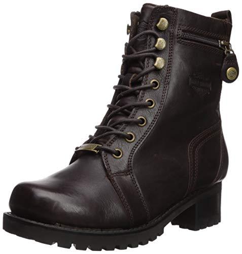 HARLEY-DAVIDSON FOOTWEAR Women's Keeler Motorcycle Boot, brown, 11.0 M US