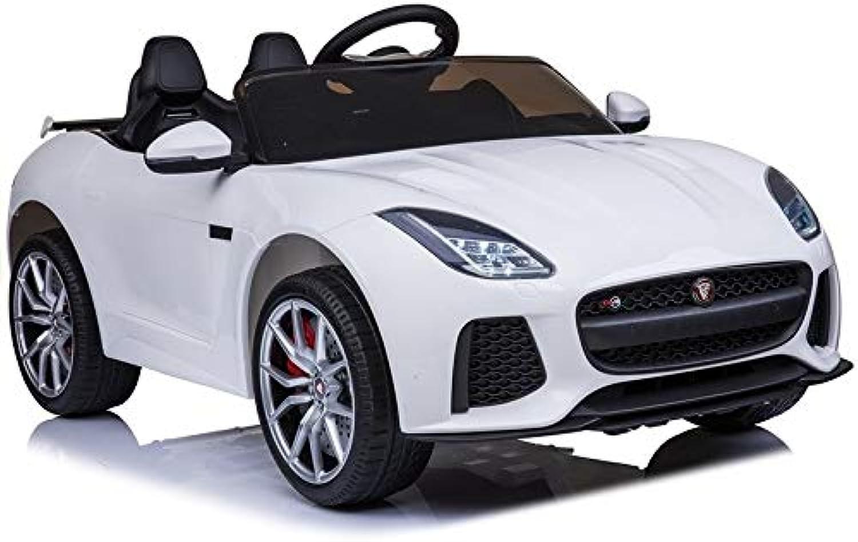 Elektroauto Jaguar F-Type Wei Eva-Reifen Ledersitz 2.4G USB SD MP3 Auto Kinderfahrzeug