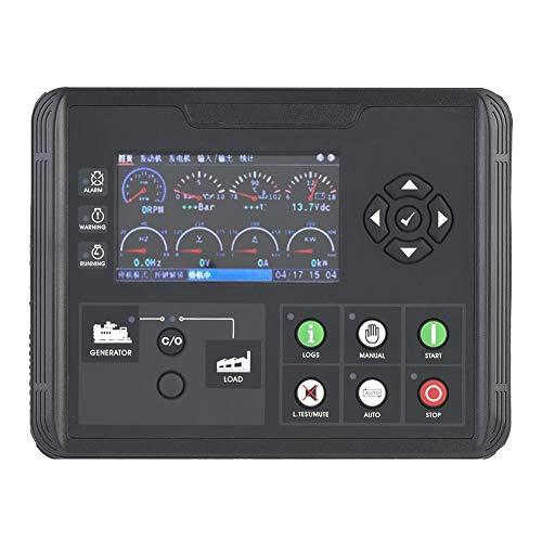 Generatorcontroller DC60D, DC60D LCD-scherm Generator Set Controller voor diesel Genset Parameters Monitor Dubbele USB-poort en PWM LCD-scherm
