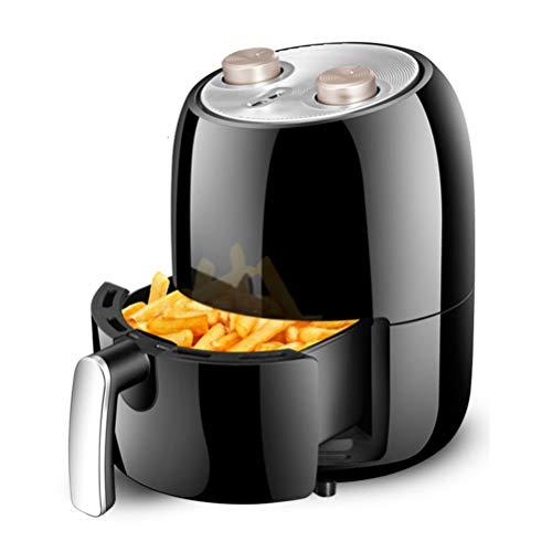 ZC Dawn Power Air Fryer, Electric Deep Fryers with Basket Oil Free French Fries Machine Intelligent Smokeless Fryer with Air Fryer Recipes EU/AU/UK/US Plug,Black,EUplug