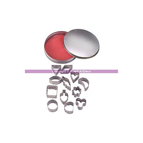 Efco Emporte-pièces en INOX, 12 Formes géométriques, Florale, Coeur, Feuille, de 2,2 à 3,2 cm