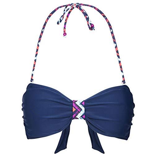 Aubrey Women's Halter Neck Bikini Top - NAVY XXS