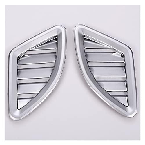 LIANGJIN 2pcs Abdominales Matte Chrome Dashboard Aire Acondicionado Cubierta de ventilación Ajuste para BMW X1 F48 2016 2017 2017 Accesorio de...