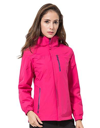 Icegrey Unisex regenjas outdoorjas 3 in 1 jas met kauwen dubbele jas hardshell jas waterdicht ademend ski-jack functionele jas