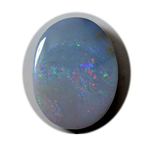 GemsOnClick Echt Full Fire Opal Edelstein 13.2Karat oval Form Oktober Geburtsstein für Schmuckherstellung Wholesale Rate