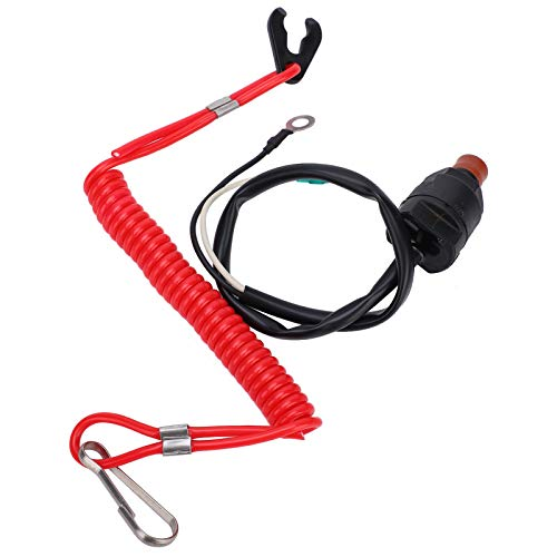 Con cordón con cordón de seguridad para motor fuera de borda interruptor de parada impermeable para la mayoría de motores fuera de borda para barco a motor RC