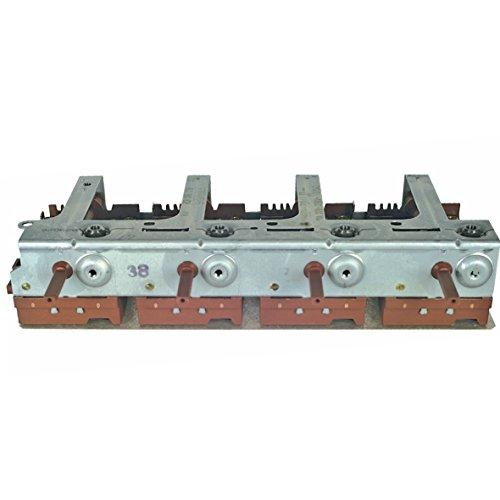 Kochplattenschalterblock Schalterblock 4facher Energieregler Kochfeld Herd Original Bosch Siemens 00096772 096772 YH60-70 Kochplatten stufenlose Regulierung passend Constructa Neff