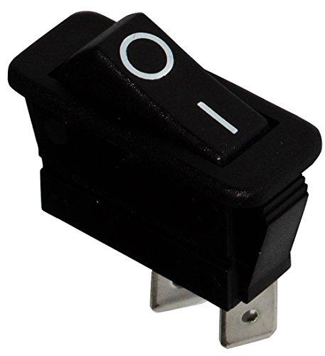 AERZETIX: Interruptor conmutador basculantes de boton SPST ON-OFF 16A/250V 20A/28V, 2 posiciones, Negro C10695