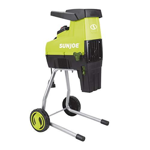 Sun Joe CJ603E 15-Amp 1.7-Inch Cutting Diameter Electric Silent Wood Chipper/Shredder, green