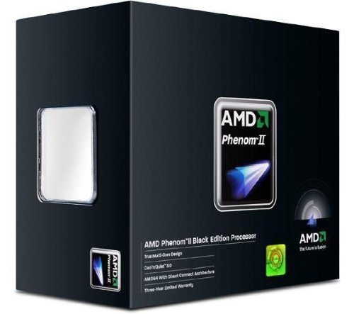 Amd Phenom Ii X4 965 Black Edition 3.4Ghz Am3 Quad-Core Processor 8Mb Cache 125W, Model...
