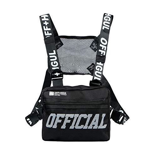 Armiya Universal Hands Free Chest Bag Utility Rig Walkie Talkie Harness Pocket Pack Radio Holster Holder for Men Women (Black)