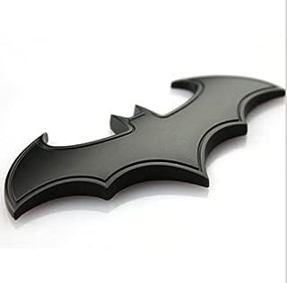 Black Metal Badge Emblem Batman 3D Tail Decals Auto Car Motorcycle Logo Sticker