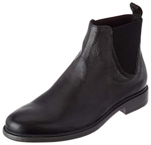 Geox Herren U Terence A Chelsea Boot, Black, 43.5 EU