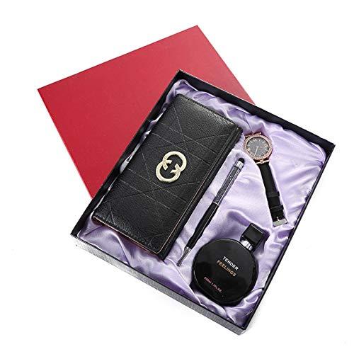 N-B Juego de bolígrafos de Reloj Exquisito Creativo Caja de Regalo Tanabata Día de San Valentín Enviar a Novia Monedero Conjunto de Caja de Regalo de Perfume