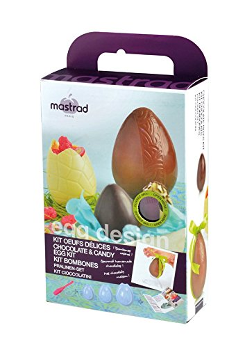 mastrad F48160 Kit Oeufs en Chocolat, Silicone, Transparent, 18 x 7,3 x 28,1 cm