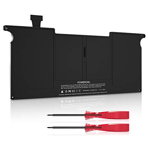 """POWEROWL A1370 A1375 Batería para MacBook Air Batería de 11"""", Apta para MacBook Air 2010 A1370 de 11"""" Batería (Solo para la versión 2010) MacBookAir3,1 MC505 MC906 [7.3V / 35Wh - No para A1370 2011]"""