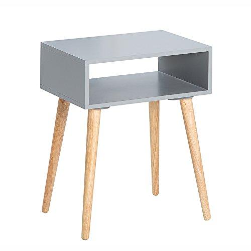 Riess Ambiente Design Retro Beistelltisch Scandinavia grau Eiche Nachttisch mit Ablagemöglichkeit Holztisch