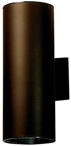 Kichler 9246AZ Outdoor Cylinder Wall Mount Sconce UpLight Downlight, Bronze 2-Light (6