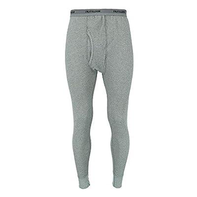 Fruit of the Loom Men's Waffle Weave Thermal Underwear Bottoms, XL, Grey