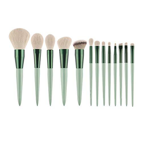 NC Juego de brochas de maquillaje 13 Green Makeup Brushes Set de brochas de maquillaje, base de maquillaje, polvos, brocha de maquillaje, brocha para maquillaje, brocha para maquillaje