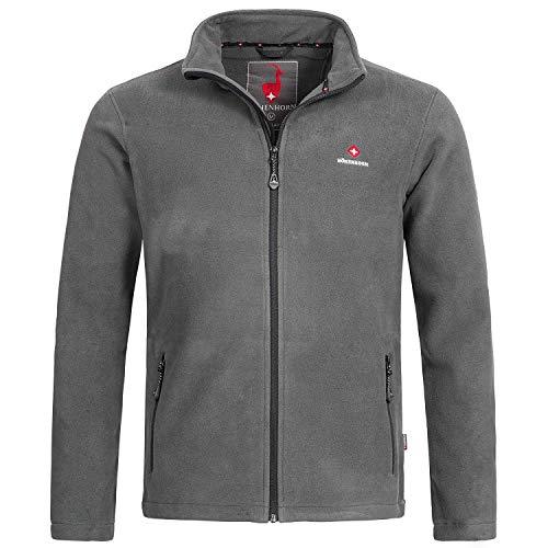Höhenhorn Badus Herren Fleece Jacke Full Zip Grau Gr. XL
