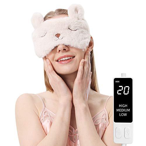 ホットアイマスク 電気アイマスク 繰り返し かわいい 誕生日プレゼント ギフトケース(ウサギ)