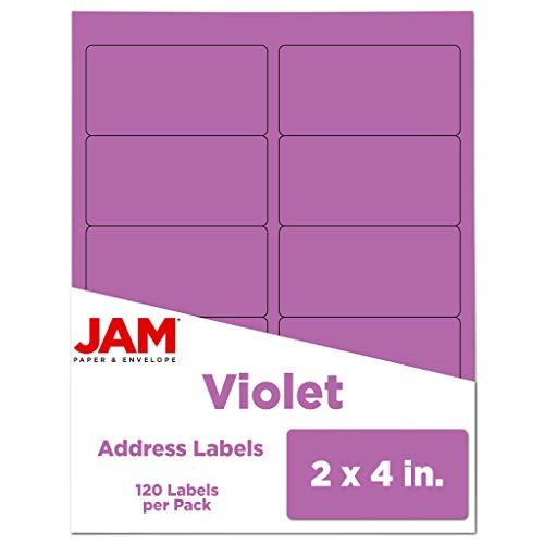 JAM PAPER Shipping Address Labels - Standard Mailing - 2 x 4 - Violet - 120/Pack