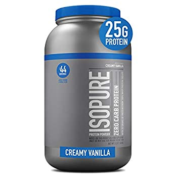 Isopure Zero Carb Vitamin C and Zinc for Immune Support 25g Protein Keto Friendly Protein Powder 100% Whey Protein Isolate Flavor  Creamy Vanilla 3 Pounds  Packaging May Vary