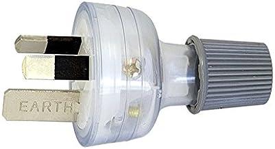 CD100L15CL HPM 3 Pin 15A Plug Top Clear Rated: 15A 240V Ac Rated: 15A 240V Ac, Colour: Clear