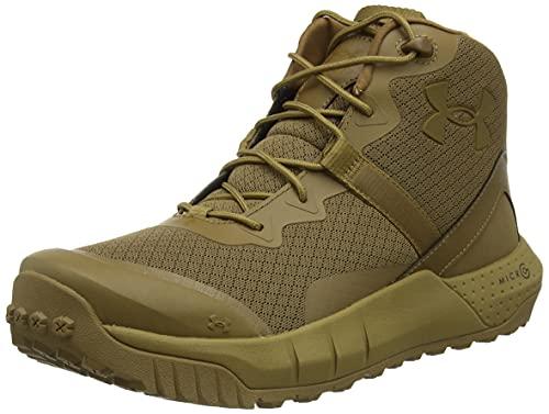 Under Armour Micro G Valsetz Mid, Zapatos de Escalada Hombre, Coyote Coyote Coyote 200, 41 EU