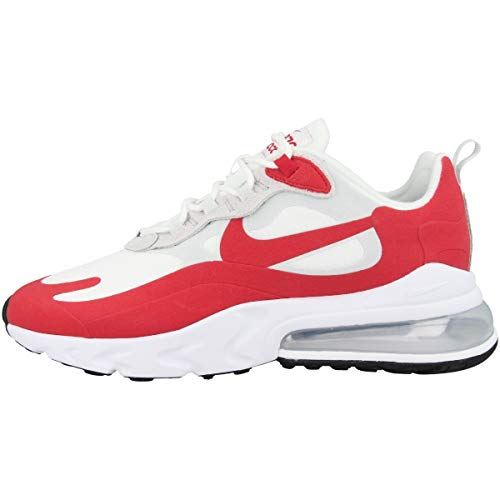 Nike Air MAX 270 React Hombre Running Trainers CW2625 Sneakers Zapatos (UK 8 US 9 EU 42.5, White University Red 100)