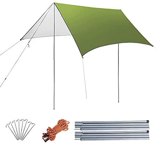MYGZFF Conjunto impermeable de 3x3 metros de cubierta de lluvia, estera de picnic al aire libre Tienda de campaña multifunción Síntomas de pie de excursionismo al aire libre Mochila Jardín de picnic c