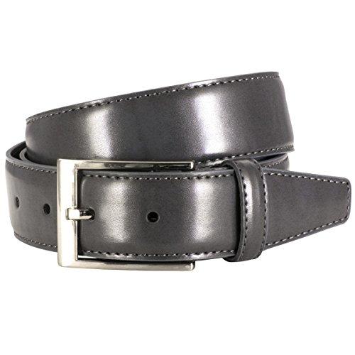 Lindenmann Mens leather belt/Mens belt, leather belt XL curved, grey, Größe/Size:115